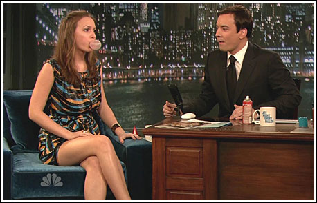 Leighton Meester Jimmy Fallon
